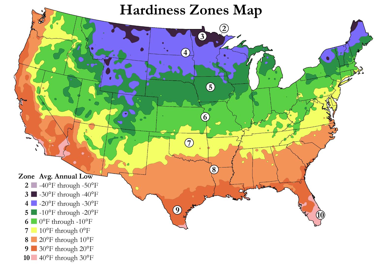 HardinessZones